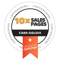 CIARA 10x Sales Pages Badge