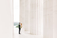 Wedding Portraits at the Lincoln Memorial in Washington DC
