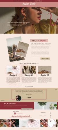Pink and tans showit template