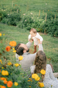 outdoor family session in asheville