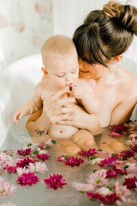 Indi 7 Month Mommy & Me Milk Bath Photos-23