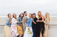 Bay area wedding photographer  ocean beach wedding party pictures