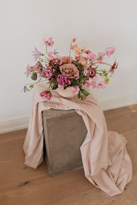 Fall pink wedding centerpiece inspiration by Solstice Floral