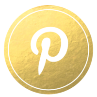 Gold-Foil-Media-Buttons-Set-Pinterest
