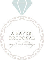 A paper proposal wedding photographer