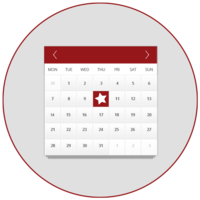 Installation Date Calendar Icon