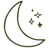 moon and stars graphic