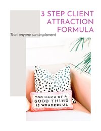 image of 3 step client attraction formula cover