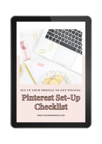 Pinterest Checklist iPad + Phone Freebie Template