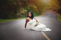 Charlotte-NC-Maternity-Photographer-White-Gown-road