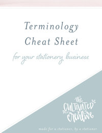 Stationery Terminology Cheat Sheet