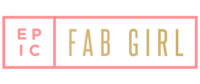 pink and yellow logo for Epic Fab Girl
