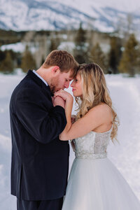 Snowy Winter Bridals in Grand Teton National Park