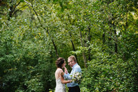 Minnesota  Wedding Couple Dancing in the woods