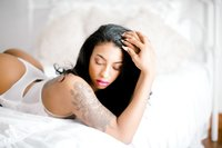 Dara Hall Lingerie Model Boudoir Bedroom Studio Hampton Roads Richmond VA Yours Truly Portraiture-89