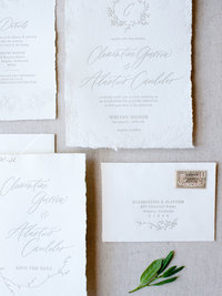 Semi-Custom Invitation Collection - Cascading Beauty 4-Piece Suite Closeup 2 Thumb