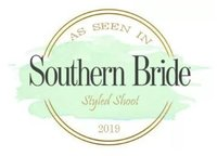 Featured in Southern Bride 2019 Styled Shoot Magazine Badge - best wedding photographers in birmingham, alabama