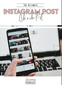 IG Post Checklist
