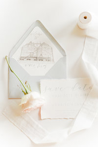 wedding invitation suite waco texas