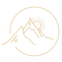Rise With Me Mountain Icon - Web-Gold
