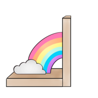 Rainbow bookend