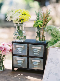 Custom Flower Bar at a Park Wedding