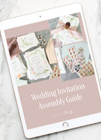 Wedding invitation assembly guide