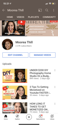 Moorea Thill Youtube Expert