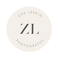 Logo of Bay Area wedding photographer | Zoe Larkin Photography
