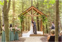 Wedding ceremomy at Events at Hemlock Springs
