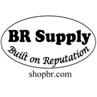 BR Supply Logo - Black and White with website 1000 x 1000
