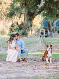 Charleston Fine Art Film Inspired Engagement Photography