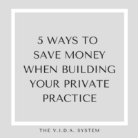 5 Ways to Save Money Building Private Practice Infographic