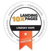 lindsay  10x Landing Pages Badge
