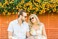 Photo of Jillian and Matt by Palm Springs wedding photographer Ashley LaPrade.