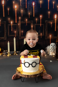 Baby Eating Harry Potter Cake