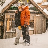 Powder King Mountain couples photoshoot by Kelowna Wedding Photographer Photos by Pala Mikayla