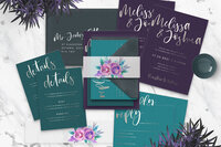 silver-foil-purple-green-wedding-invitation-suite-mermaid