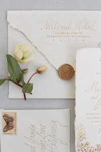 Fine art wedding invitations