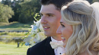 Beautiful couple with wedding at Wychmere Beach Club. Filmed by Harborview Studios.