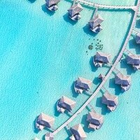 Overwater bungalow with Drone Photography in Bora Bora (Wedding)