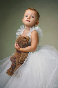 Child portrait taken in studio in Vienna, Virginia