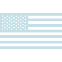 Azalea Design Co. USA Flag Graphic in Blue