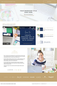 Product Launch Formula style Video Series Website Template for Showit
