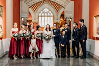 bridal party at pafa