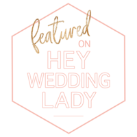Hey Wedding Lady Badge