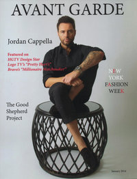 Expose The Heart had pictures shown of Jordan Cappella in Avant Garde Magazine