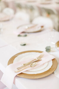 Gorgeous wedding details on table