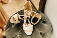 Wedding day shoes taken in Elk Grove wedding.