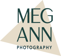 Gray lettering for Meg Ann Photography logo